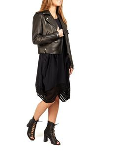 Leading online upscale fashion boutique in London for women's outerwear. Selecting designers such as Canada Goose, Mackage, Rino & Pelle and Ventcouvert, Fur & Leather coats and much more. Black Leather Biker Jacket, Spring Jackets, Outerwear Women, Fashion Boutique, Harem Pants, Shop Now, Coat, Shopping, Clothes