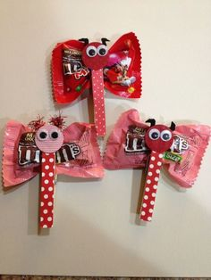 Valentine M&M butterflies. Cute, affordable and easy Valentine favors I whipped up. by heather