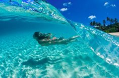 YES PLEASE! I would love to swim in this water!!!!Crystal Clear Waves, The Maldives
