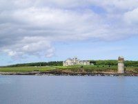 Rent-a-Castle: BALFOUR CASTLE. Isle of Orkney, Scotland. Nine bedrooms, nine bathrooms, a drawing room, a formal dining room, a billiard room, a private chef, a private chapel, a cinema, and a golf room with a 56-course simulator—and if you're not satisfied indoors, you can always go seal watching, shoot clay pigeons, or play paintball.