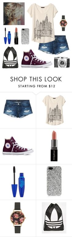 """""""Pictures in New York RTD"""" by isabel-harsh ❤ liked on Polyvore featuring 3x1, Banana Republic, Converse, Smashbox, Maybelline, Yves Saint Laurent, Olivia Burton and adidas"""