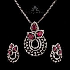 Buy Pendant Online   Ruby Diamond Balance from Kameswari Jewellers