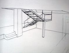 Detailskizze Treppe, Wohn-esszimmer