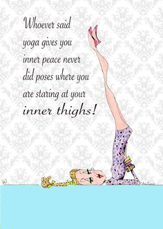 Yoga Art Woman Humor 5 x 7 print funny yoga poses by VanityGallery Yoga Inspiration, Funny Yoga Poses, Yoga Kunst, Fine Point Pens, Silly Me, Yoga Art, Yoga Quotes, Workout Humor, Lol