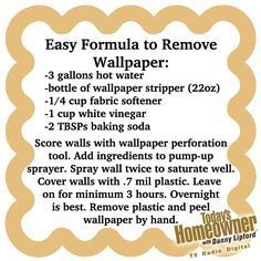 Easy way to remove wallpaper. Peels off by hand if you leave the plastic on to soak!