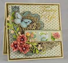 Hampton Art Blog: Thinking of You card by designer Gini Williams Cagle featuring Graphic 45