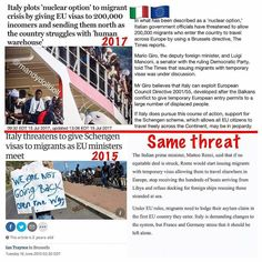 @Regrann from @mandydolldoll -  This visa talk is making the rounds today to whip up a frenzy in certain crowds but it's not completely new news. Italy has been threatening to do this since 2015. Turkey has also threatened to flood the EU with migrants. Maybe they will maybe they won't.    More news here: #WW3ThePayback    #mandydolldoll #news #politics as usual #truth #RBG #black  #world #today #africa #life #europe #russia  #america #usa #london #paris #germany #canada #uk #refugees #syria…