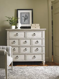 Oyster Bay Fall River Chest with Ten Drawers and Ring Pull Hardware by Lexington at Baer's Furniture