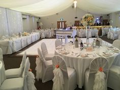 Wedding reception at The Beaverwood, Chislehurst, Kent. Wedding Reception, Wedding Venues, Table Settings, Table Decorations, Weddings, Furniture, Beautiful, Home Decor, Marriage Reception
