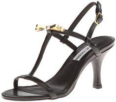 Steve Madden Women's Dussty Dress Sandal,Black,9 M US