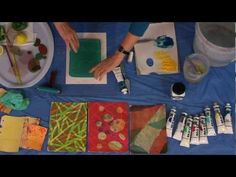 Need to go get some produce today to practice on my Gelli Plate.  Derivan Printing with a Gelatin Plate - With Wendy Shortland