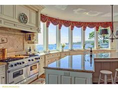 Kitchen with windows overlooking the ocean! 57 Zeb Cove Rd, Cape Elizabeth, ME 04107 is For Sale - Zillow