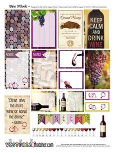 Wine O'Clock Planner Printable