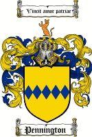 Pennington Coat of Arms / Pennington Family Crest