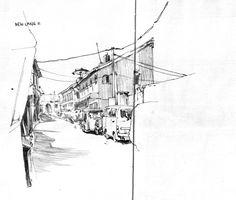 Jenny Adam - New Lane II (Urban Sketchers)