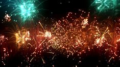 020 Colorful beautiful LED fireworks photography&video background video material for video producer