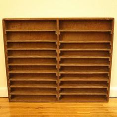 Antique Wood Slat Shelf, $123, now featured on Fab.