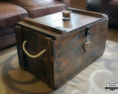 Rustic Bench With Shelf Hope Chest Trunk by TheSavvyShopper1