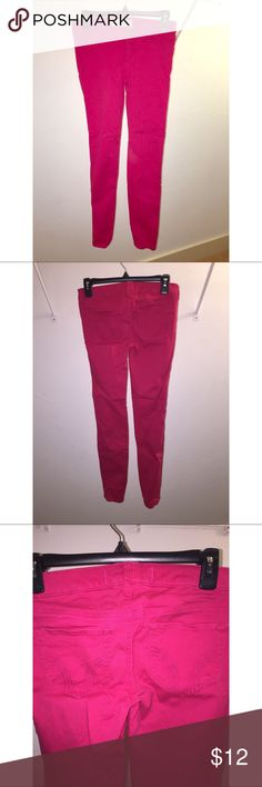 Hot pink jeans Hot pink skinny jeans, worn once. Hollister Jeans Skinny