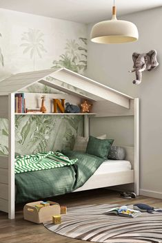 House Beds For Kids, Decoration, Bunk Beds, Toddler Bed, Interior Design, Furniture, Home Decor, Bb, Products