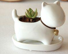 Barato Forma cão pequeno de cerâmica vaso de flores de mesa, Compro Qualidade Vasos diretamente de fornecedores da China:  Grátis sem planta tamanho 12x7,5x10 cm  Pequeno cão forma de cerâmica de mesa vaso de flor