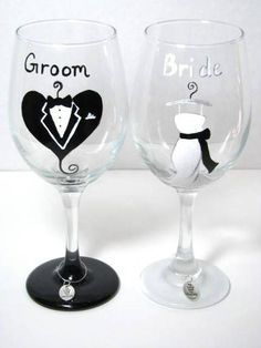 I like the characters in the glass that distinguished glass wines of the newly wed from the others.
