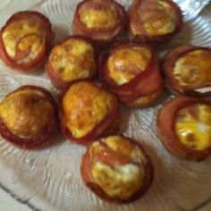 """I make these in foil muffin pans for easy clean up...........For those of you doing the whole low carb thing this breakfast recipe is a must try! It's super simple (line muffin tin with bacon, pour in egg, bake at 375 for 30 mins), absolutely delicious, and really filling. One """"muffin"""" kept me feeling full for hours."""