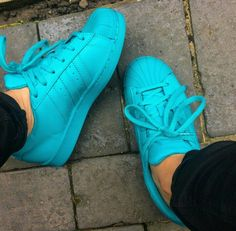 Swaggy Sneakers Turquoise Adidas Superstars
