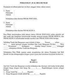 Download Contoh Surat Resmi Perjanjian Jual Beli Rumah Format Word