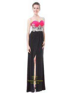 Black And Hot Pink Prom Dresses,Pink Top Black Bottom Dress,Pink And Black Dresses For Juniors