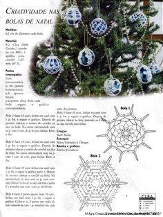 3dbd6f8d4adb (527x700, 317Kb) Crochet Christmas Decorations, Crochet Ornaments, Crochet Decoration, Holiday Crochet, Beaded Ornaments, Xmas Ornaments, Crochet Snowflake Pattern, Crochet Motif Patterns, Crochet Snowflakes