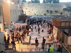 "Kotel at the break of dawn. Praying for peace. "" Sephardi Chief Rabbi Yitzhak Yosef has called on Jews to arrive en masse at the Western Wall on Hoshanah Raba and Shemini Azeret-Simchat Torah to pray..."