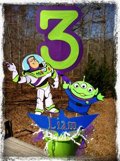Buzz Lightyear centerpiece by RaeofSunshinedesign on Etsy, $15.00