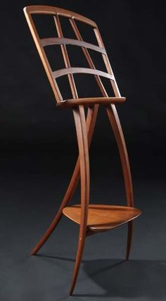 Wharton Esherick carved cherry music stand.