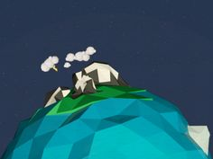 Lowpoly Earth designed by Thalida Noel. Connect with them on Dribbble; Earth Design, Low Poly, Art Direction, English, Spaces, Noel, English Language