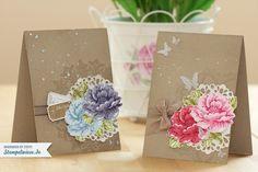 stampin up stippled blossoms | Beide Karten habe ich zum Schluss noch mit Vanille Smooch Spritzer ...