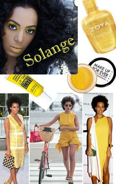 The Yellow Brick Road to Solange Knowles. #zoya #makeupforever #occmakeup