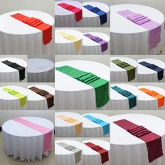 Table Runner Polyester 30*275cm Catering Event Wedding Party Table Decoration #Unbranded