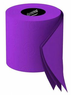 Purple Toilet paper