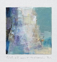 Oct. 27 2017 Original Abstract Oil Painting 9x9 painting