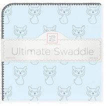 Wowee! Check out the Deal of the Day @SwaddleDesigns! Ultimate Swaddle - Gray Fox on Pastel Blue w/ Gray Trim only $9.99 (reg. $25) ! #MadeinAmerica #MadeinUSA #BeautifulCottonFlannel #LightweightandCozy #DesignedinSeattle