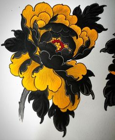 Ink and water . DM for the original . This could be tattooed if you would like to too . Japanese Flower Tattoo, Japanese Tattoo Designs, Japanese Sleeve Tattoos, Japanese Flowers, Flower Tattoo Designs, Flower Tattoos, Japanese Art, Knee Tattoo, Leg Tattoos