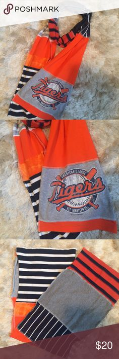 ⚾️Detroit Tigers TShirt Scarf •good condition - used once  •handmade from recycled tees  •smoke free home  •no trades/holds Accessories Scarves & Wraps