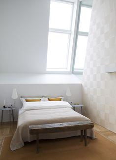 Multicomforthus i Larvik, bedroom, interior architecture by Nyfelt og Strand Interior Photography, Interior Design, Interior Architecture, Furniture, Bedroom, Home Decor, Design Interiors, Room, Homemade Home Decor