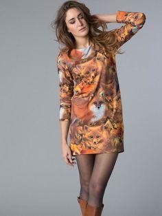 Foxtrot - A-lijn jurk van This is Lily. Trendy en sexy, de laatste winter collectie van This is Lily is gek op dieren!