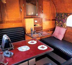 ~ Inside vintage camper ~