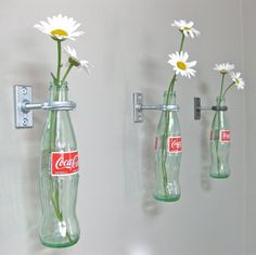 Upcycle Us: Hanging glass bottle on a wall Or aluminum. Beer bottles