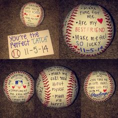 Gift idea for baseball boyfriend. More - - Gift idea for baseball boyfriend… More Gift idea for baseball boyfriend… Baseball Boyfriend Gifts, Valentines Gifts For Boyfriend, Presents For Boyfriend, Baseball Gifts, Valentine Day Gifts, Boyfriend Ideas, Surprise Boyfriend, Baseball Boys, Holiday Gifts