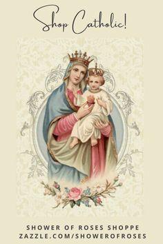 Catholic Mass, Catholic Prayers, Jesus Scriptures, Birthday Blessings, Mary And Jesus, Rose Lace, Blessed Virgin Mary, Prayer Cards, Sacred Heart