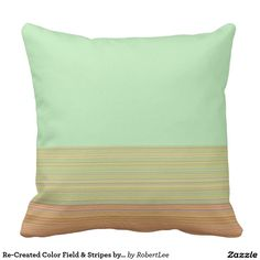 Re-Created Color Field & Stripes by Robert S. Lee Throw Pillow #Robert #S. #Lee #pillow #art #artist #graphic #design #colors #kids #children #girls #boys #style #throw #cover #for #her #him #gift #want #need #abstract #home #office #den #family #room #bedroom #living #customizable
